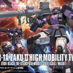 HG 1/144 Zaku II Black Tri-Star High Mobility Type [Gundam The Origin]