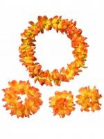 ชุดสร้อยฮาวาย พวงมาลัยดอกไม้ส้ม