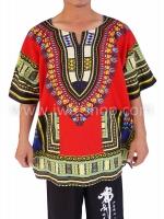 เสื้อลายชนเผ่า เสื้อลายจังโก้ แดง