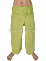 กางเกงเล กางเกงชายหาด ผ้าเรยอน สีเขียว