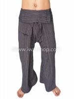 กางเกงเล กางเกงโยคะ ผ้าสลาฟ สีดำ