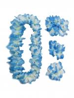 ชุดสร้อยฮาวาย พวงมาลัยดอกไม้ฟ้า