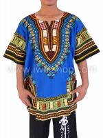 เสื้อลายชนเผ่า เสื้อลายจังโก้ น้ำเงิน