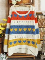 Code #PluseSizeDress006 พร้อมส่ง เสื้อไหมพรม ลายหัวใจ สินค้าเหมือนตามแบบเป๊ะเลยค่ะ สีพื้นขาวตามรูป