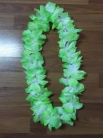 พวงมาลัยฮาวาย พวงมาลัยดอกไม้ พวงมาลัยแฟนซี เขียวขาว