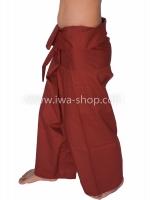 กางเกงเล กางเกงชายหาด ผ้าโทเร สีเลือดนก