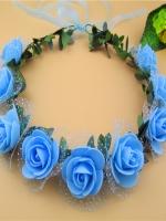 มงกุฎดอกไม้เจ้าสาว ฟ้า