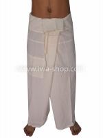 กางเกงเล กางเกงโยคะ ผ้าฝ้าย สีครีม