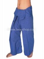 กางเกงเล กางเกงโยคะ ผ้าสลาฟ สีน้ำเงิน