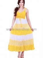 ชุดเดรส 5 ส่วนสลับสีเหลือง