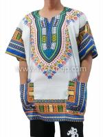 เสื้อลายชนเผ่า เสื้อลายจังโก้ สีผสมน้ำเงิน