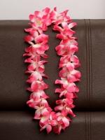 พวงมาลัยฮาวาย พวงมาลัยดอกไม้ พวงมาลัยแฟนซี ชมพูขาว