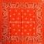 ผ้าเช็ดหน้า ผ้าพันคอ ลาย Paisley ส้ม thumbnail 1
