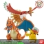 Pokémon PLAMO COLLECTION HOUOU & LIZARDON & SATOSHI'S PIKACHU SET thumbnail 2