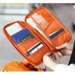 กระเป๋าพาสปอร์ต ใส่เอกสาร สีส้ม