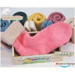 ถุงเท้าวูล ขนกระต่าย สีชมพู