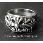 แหวนCHROME HEARTS FLORAL CROSS 925 1:1[เทียบแท้]
