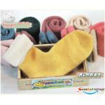 ถุงเท้าวูล ขนกระต่าย สีเหลือง