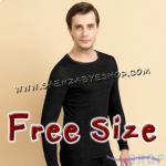 ชุดลองจอห์นชาย สีดำ Free Size