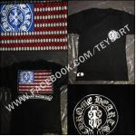 เสื้อ Chrome Hearts America Flag T Shirt1:1