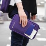 กระเป๋าพาสปอร์ต ใส่เอกสาร สีม่วง