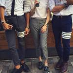 กางเกงTHOM BROWNE SLIM FIT TROUSERS 1:1