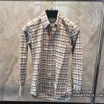 เสื้อเชิ้ตTHOM BROWNE Gingham In Grey Oxford Shirt (Engraved Grade 1:1)