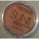 CATRICE SUN GLOW matt bronzing power #030 (medium bronze) 9.5g. แป้งแข็ง โกลว์ บรอนซิ่งเพิ่มมิติให้ใบหน้า