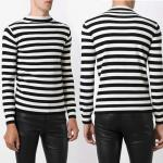 Size XL Roll-neck Striped Wool Sweater