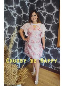 Marilyn001 Sugary Dress พิมพ์ลายดอกไม้สไตล์วินเทจ Detail เก๋ไก๋ แอบเซ็กซี่เบาๆ แขนและข้างลำตัวชีฟองโทนสีชมพู ตัวเดรสผ้าSatin Cotton เนื้อดี ความหนาปานกลาง ซิปด้านหลัง ไม่มีซับใน