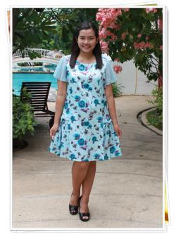 CBB57015PP เดรสแฟชั่นสาวอวบ พิมพ์ลายดอกไม้ pattern น่ารักเก๋กู๊ดมาก ใส่สบายๆค่ะ ผ้าโพลิเอสเตอร์เนื้อนุ่มผิวหน้ามันๆลื่นๆนิดหน่อยอย่างดีใส่สบายมากค่ะ Textureผ้าสวยสุดหรู แขนระบายผ้าชีฟอง พร้อมซับด้านในค่ะ