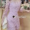 เสื้อผ้าเกาหลี พร้อมส่งShiny Lady PinkGold Leaf Lace Playsuit