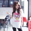 เสื้อผ้าเกาหลี พร้อมส่งเสื้อตัวยาว พิมพ์ลาย Daisy Duck