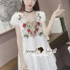 ชุดเดรสเกาหลี พร้อมส่งChic Flora Layer Mini Dress