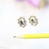 E79046 Diamond Earring ต่างหูเพชร
