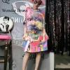 ชุดเดรสเกาหลีพร้อมส่ง เดรสตัวยาวลายการ์ตูนสีสันสดใสงานสวยมาก