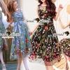 ชุดเดรสเกาหลี พร้อมส่งPrincess Variously Flora Stickly Small Maxi Dress