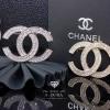 พร้อมส่ง Chanel Brooch สไตล์ Logo ตัว C ดีไซด์เก๋ไก๋ เพชร 2 ชั้น