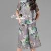 เสื้อผ้าเกาหลี พร้อมส่งGrayly Cheongsam Flora Print Dress