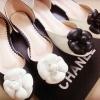 Chanel camelia คัชชุเสริมเปิดข้าง ดอกคามิเลียสไตล์ชาแนล ใส่ลำลอง