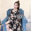ชุดเดรสเกาหลี พร้อมส่งMini Dress แขนระบายน่ารักในลุคคุณหนู