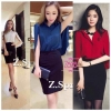 เสื้อผ้าเกาหลี พร้อมส่ง SET. Working women by. Zaza