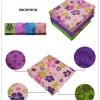 (พรีออเดอร์) ผ้ารองเล่นโยคะ ปุ่มกันลื่นPVC ลายดอกไม้พิมลาย ไซต์S