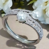 พร้อมส่ง Diamond Bangle with Pearl
