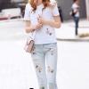 เสื้อผ้าแฟชั่น พร้อมส่งMary Rose Embrodered Shirt + Denim Jean Set