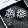 พร้อมส่ง Chanel Earring ต่างหูเพชร CZ แท้