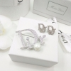 พร้อมส่ง ต่างหู เข็มกลัด Dior น่ารักๆ งานเพชรCZแท้ฝังล้วนๆ