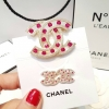 พร้อมส่ง Diamond Chanel Brooch&Earring