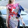 ชุดเดรสเกาหลี พร้อมส่งD&G Tropical Bloom Print Dress