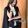 เสื้อผ้าเกาหลี พร้อมส่งเบลเซอร์ผ้าคอตตอนผสมโพลีเอสเตอร์ผ่าแขนสไตล์มินิมัลชิค